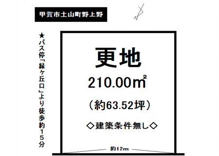 土地 - 滋賀県甲賀市土山町野上野